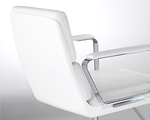 Gloss-White fibreglass backrest shell