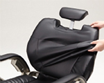 Removable covers for seat, backrest, headrest and arms for all models