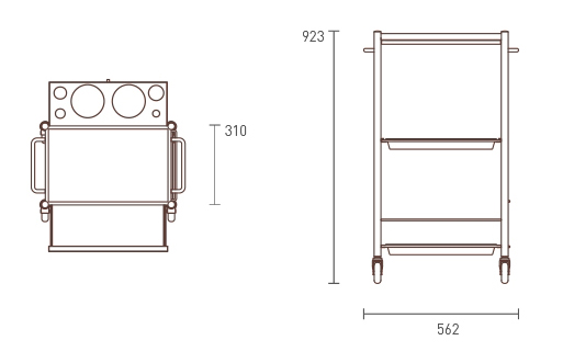 D-Galley Trolley dimensions